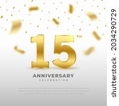 15th anniversary celebration... | Shutterstock .eps vector #2034290729