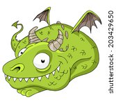 an image of a friendly dragon. | Shutterstock . vector #203429650