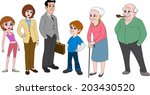 family with mom   dad in... | Shutterstock .eps vector #203430520