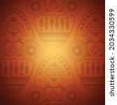vector of tribal mask design in ... | Shutterstock .eps vector #2034330599