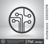 icon  vector illustration. flat ... | Shutterstock .eps vector #203433298