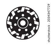 grinding disc. diamond grinding ... | Shutterstock .eps vector #2034347729