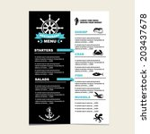 Seafood cafe menu grill, template design.Vector illustration.