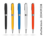 colored pens vector set. | Shutterstock .eps vector #203439238