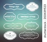 set of vintage frames on a soft ... | Shutterstock .eps vector #203439523