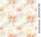 soft pink peony seamless...   Shutterstock .eps vector #2034414740