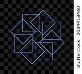 Abstract Blue Shining Geometric ...