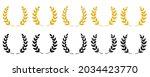 gold laurel wreath   a symbol... | Shutterstock .eps vector #2034423770