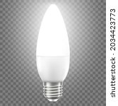 glowing led bulb isolated on... | Shutterstock .eps vector #2034423773