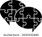 puzzle speech balloon icon set   Shutterstock .eps vector #2034432680