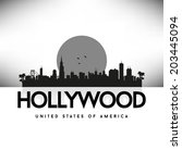 hollywood united states of... | Shutterstock .eps vector #203445094