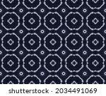 Blue Ink Pattern. Blue Endless...