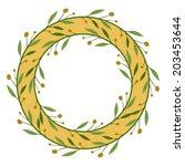 vector frame of olives. | Shutterstock .eps vector #203453644