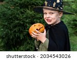 A Little Boy In A Wizard's...