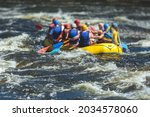 Raft Boat During Whitewater...