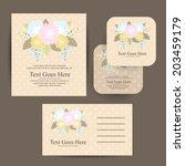 wedding invitation | Shutterstock .eps vector #203459179