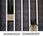 Decorative wooden wall with...