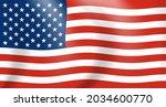 national flag of america....   Shutterstock .eps vector #2034600770