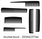 set of  plastic comb isolated...   Shutterstock .eps vector #2034625766