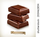 chocolate pieces  vector... | Shutterstock .eps vector #203462854