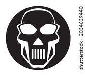black and white human skull... | Shutterstock .eps vector #2034639440