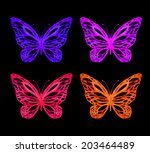 amazing colorful background... | Shutterstock . vector #203464489