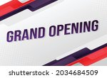 grand opening word concept...