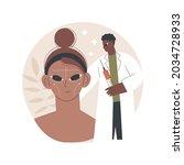 facial contouring abstract...   Shutterstock .eps vector #2034728933