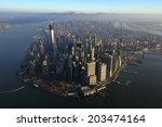 aerial view of lower manhattan  ... | Shutterstock . vector #203474164