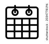 calendar icon or logo isolated...