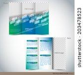 tri folder brochure   leaflet... | Shutterstock .eps vector #203478523