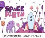 fantastic astronaut travel... | Shutterstock .eps vector #2034797636