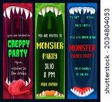 halloween dance and creepy...   Shutterstock .eps vector #2034804053