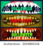 halloween club party banners ...   Shutterstock .eps vector #2034804146