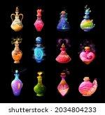 cartoon potion bottles. love...