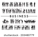 silhouettes of successful... | Shutterstock .eps vector #203480779