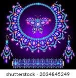 illustration set of jewelry... | Shutterstock .eps vector #2034845249
