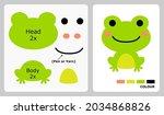 frog pattern for kids crafts or ...   Shutterstock .eps vector #2034868826