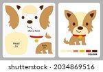dog pattern for kids crafts or...   Shutterstock .eps vector #2034869516