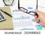 closeup image of business woman ... | Shutterstock . vector #203488063