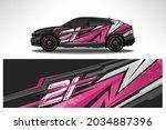 wrap car vector design decal.... | Shutterstock .eps vector #2034887396