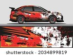 car livery wrap decal  rally... | Shutterstock .eps vector #2034899819