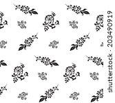 black and white seamless... | Shutterstock .eps vector #203490919