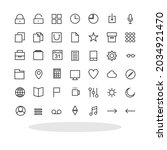 set of 42 icons in flat style....