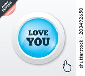 love you sign icon. valentines...