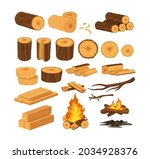 wood industry products  tree... | Shutterstock .eps vector #2034928376
