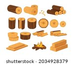 wood industry products  tree... | Shutterstock .eps vector #2034928379