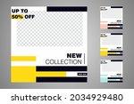 new set of editable minimal... | Shutterstock .eps vector #2034929480