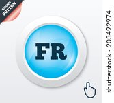 french language sign icon. fr...