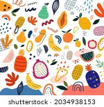 fresh stylish template with... | Shutterstock .eps vector #2034938153